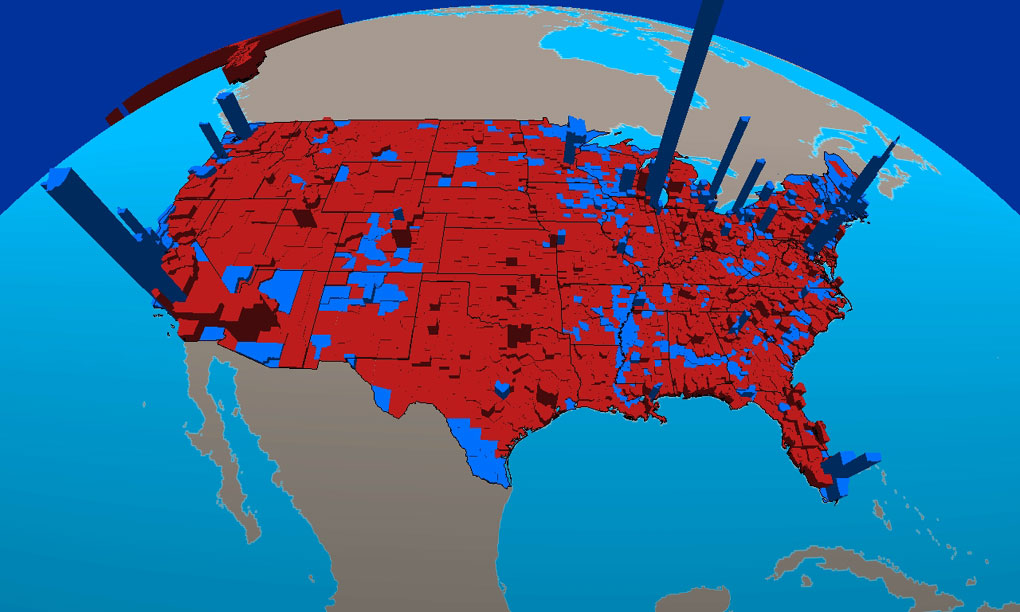 Electoral College Maps Mrs Wentes Room - Us map of voting results by county